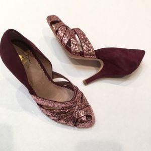 Miss Allbright Leather Rose Glitter Heel High Hall